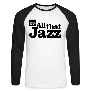 IJsseljazz Baseball shirt Zwart All that Jazz - Mannen baseballshirt lange mouw