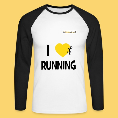 i love runnung lg  homme  - T-shirt baseball manches longues Homme