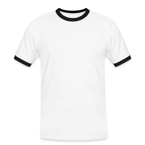 Live like the Bundestrainer - retro - weiße Schrift - Männer Kontrast-T-Shirt