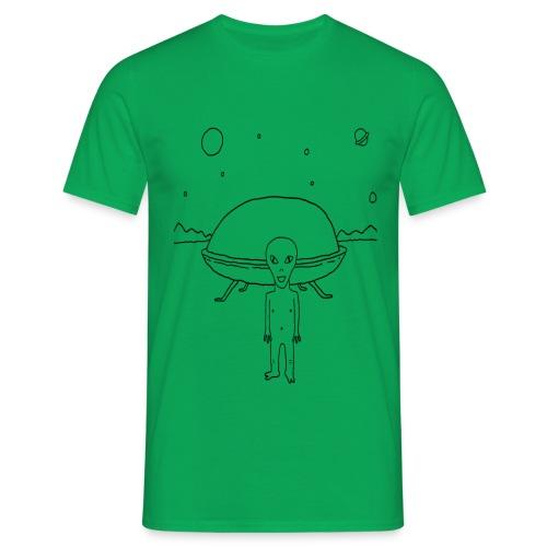 Un alien et sa bagnole - T-shirt Homme