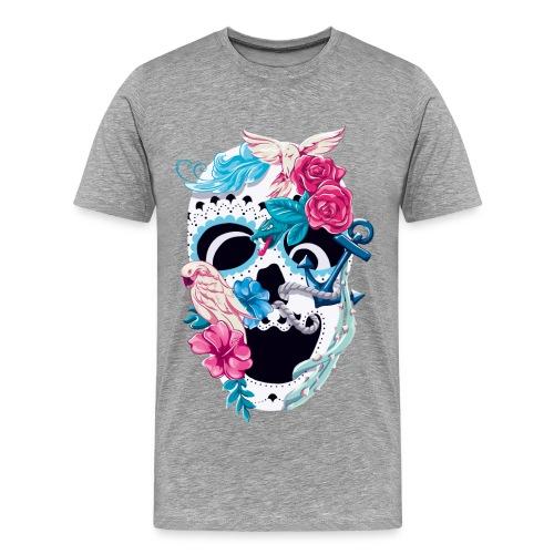 Floral Skull – Herren T-Shirt - Männer Premium T-Shirt