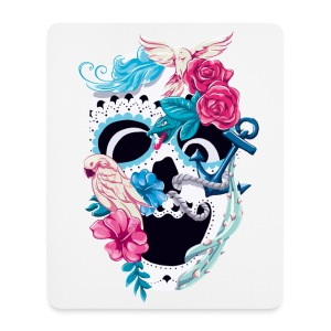 Floral Skull – Mousepad - Mousepad (Hochformat)