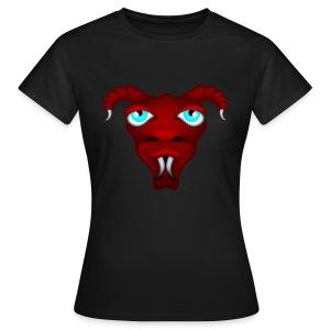 Tête d'alien à cornes rouge - T-shirt Femme