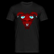 Tee shirts ~ Tee shirt Homme ~ Tête d'alien à cornes rouge