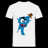 Tee shirts ~ Tee shirt Homme ~ Tête bleu  chapeau