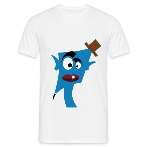Tête bleu  chapeau  - T-shirt Homme
