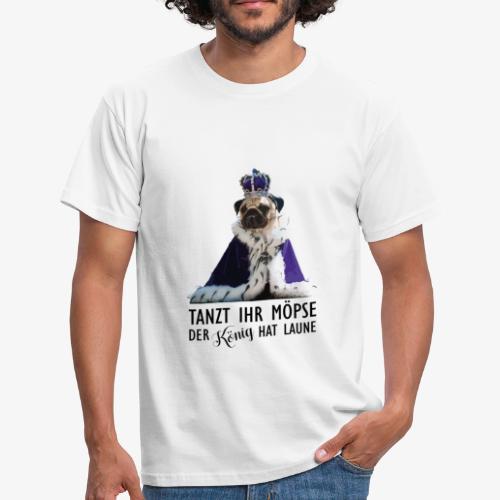 T-Shirt Herren THE KING (Schwarze Schrift) - Männer T-Shirt