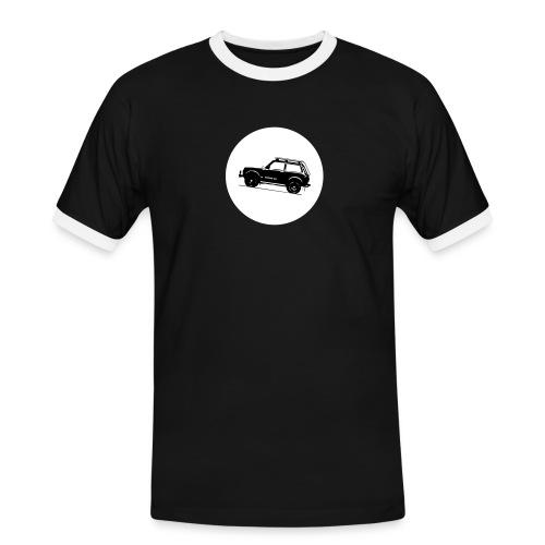 Lada Niva Kreis - Männer Kontrast-T-Shirt