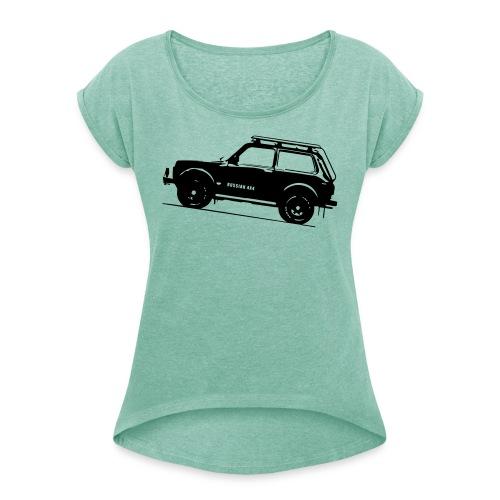 Nivashirt for Girls mit gerollten Ärmeln - Frauen T-Shirt mit gerollten Ärmeln