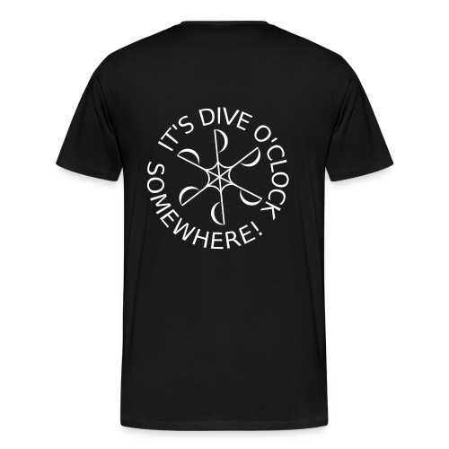 Show your passion for SCUBA diving! (+front print) - Men's Premium T-Shirt