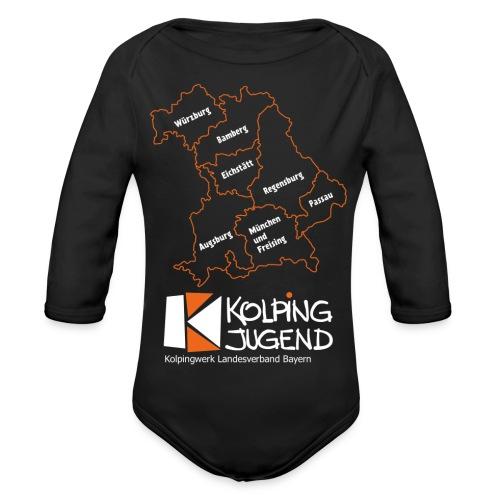 Baby Langarm-Body - KJ-Logo Groß - Baby Bio-Langarm-Body