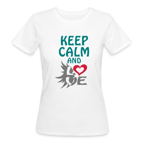 Tee shirt Bio Femme Keep calm and love - Women's Organic T-Shirt