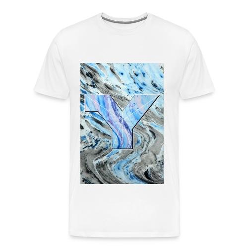 Marble Tie Dye  - Men's Premium T-Shirt