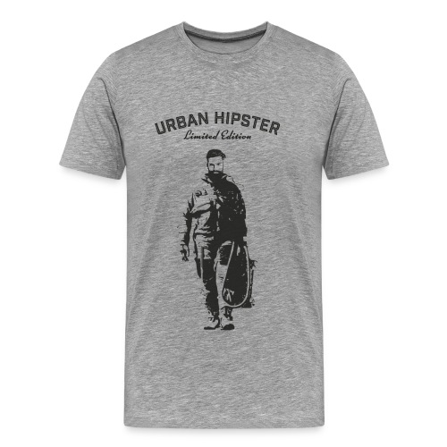 Urban Hipster Spaceman - Men's Premium T-Shirt