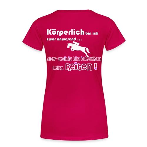 Pferd beim Reiten - Frauen Premium T-Shirt