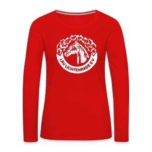 Langarmshirt mit LRV-Logo vorn und Schriftzug auf dem Rücken - Frauen Premium Langarmshirt