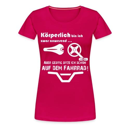 Fahrrad Fahren Mountainbike - Frauen Premium T-Shirt