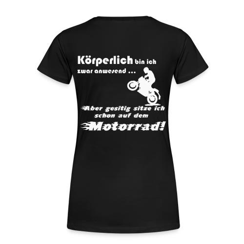 Beim Motorrad fahren Biker Moped - Frauen Premium T-Shirt