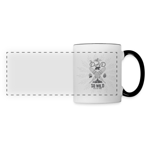 mug // My Dad is So Wild, He's my Hero - Mug panoramique contrasté et blanc