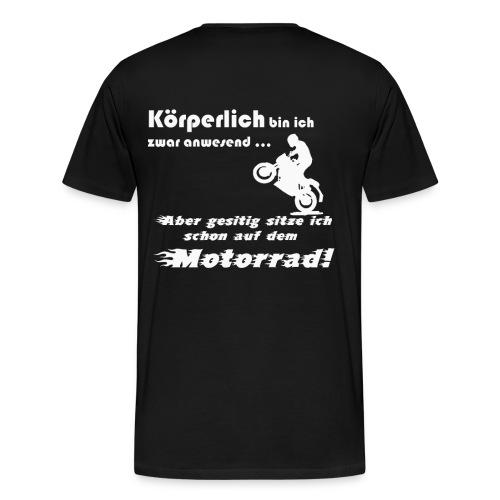 Beim Motorrad fahren Biker Moped - Männer Premium T-Shirt