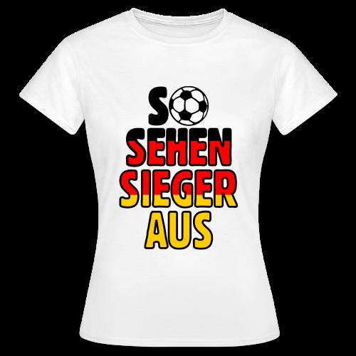Fußball Deutschland Fan T-Shirt - Frauen T-Shirt