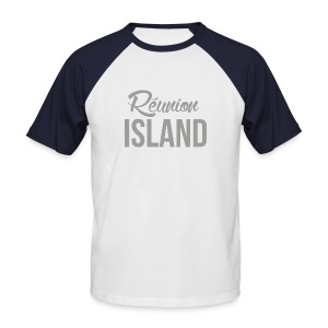 Tee-shirt Homme Bicolore - Réunion Island - T-shirt baseball manches courtes Homme