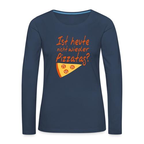 Pizza Nerd Shirt - Frauen Premium Langarmshirt