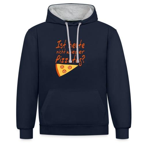 Pizza Nerd Hoodie (Unisex) - Kontrast-Hoodie