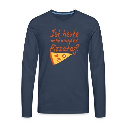 Pizza Nerd Shirt - Männer Premium Langarmshirt