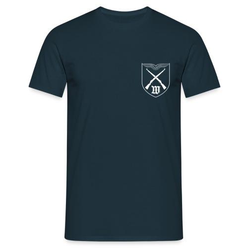 T-Shirt - Wappen Weiß Brust | 5./WachBtl BMVg - Männer T-Shirt
