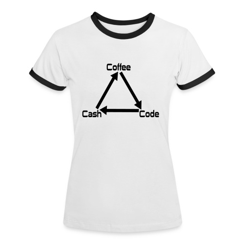 Developer Frauen Nerd T-Shirt - Frauen Kontrast-T-Shirt