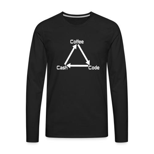 Developer Männer Nerd Shirt - Männer Premium Langarmshirt