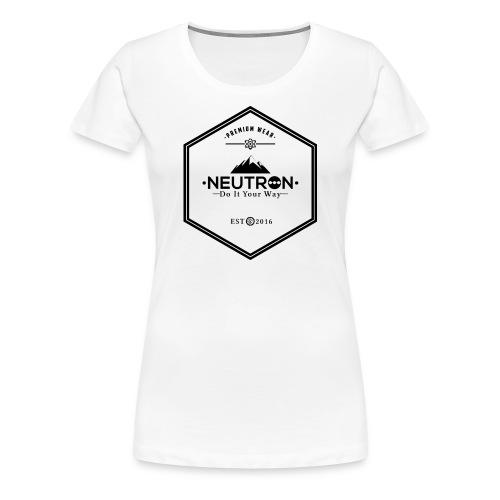 Hipster Logo Neutron Girlie  - Frauen Premium T-Shirt
