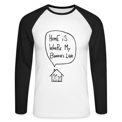 Home is - Männer Baseballshirt langarm
