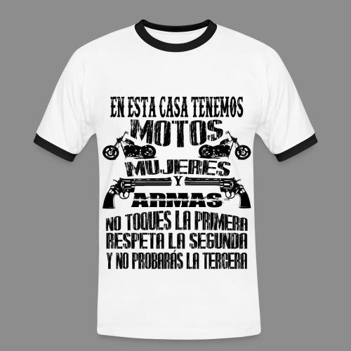 Motos, Mujeres y Armas - Camiseta contraste hombre