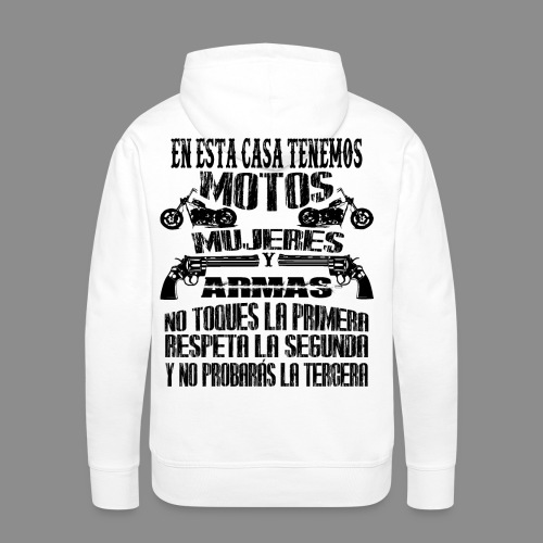 Motos, Mujeres y Armas - Sudadera con capucha premium para hombre