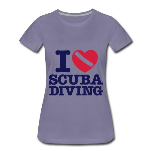 I love scuba diving  - Women's Premium T-Shirt