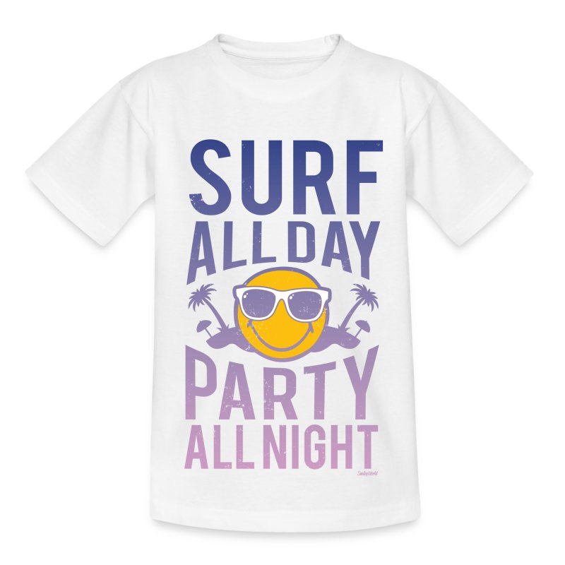 SmileyWorld 'Surf all day' teenager t-shirt - Nuorten t-paita