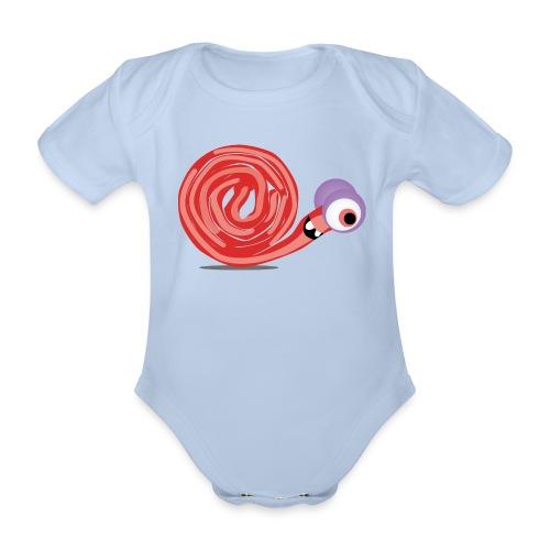 Schnecki Spaghetti - Baby Bio-Kurzarm-Body