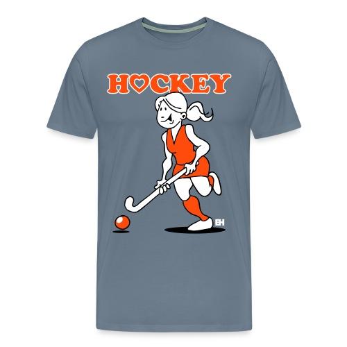 Jag älskar landhockey. En hockey flicka. T-shirts - Men's Premium T-Shirt