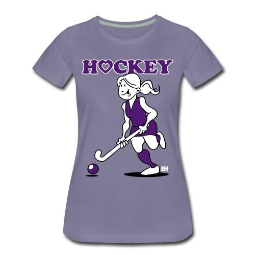 Jag älskar landhockey. En hockey flicka. T-shirts - Women's Premium T-Shirt