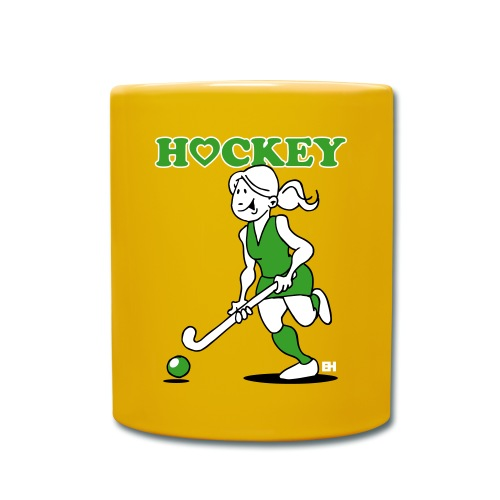 Jag älskar landhockey. En hockey flicka. Muggar & tillbehör - Full Colour Mug