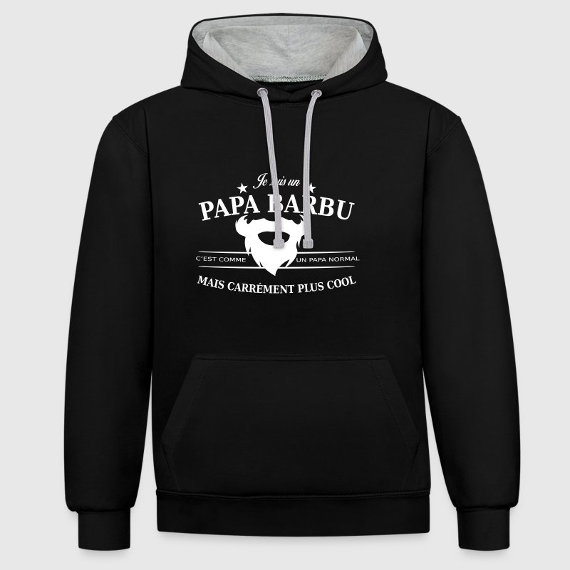 papa barbu Sweat-shirts - Sweat-shirt contraste