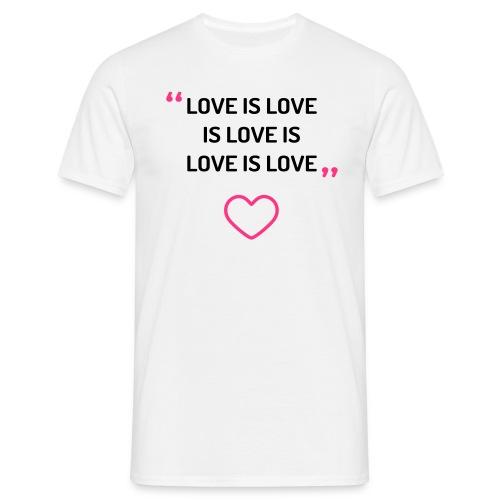 Love is love - Men's tee - Men's T-Shirt