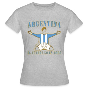 Argentina football soccer celebration women's premium t-shirt - Women's T-Shirt