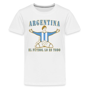 Argentina football soccer celebration teenage premium t-shirt - Teenage Premium T-Shirt