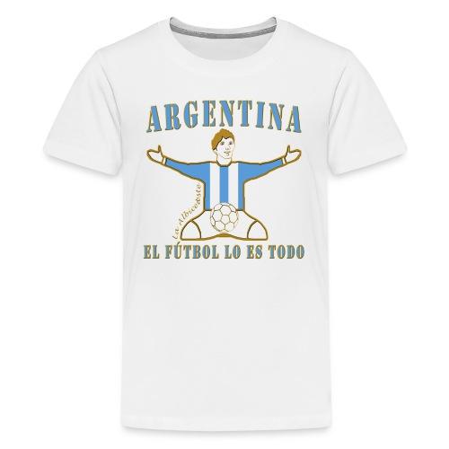 Argentina football soccer celebration teenage premium t-shirt - Teenage Premium T-Shirt