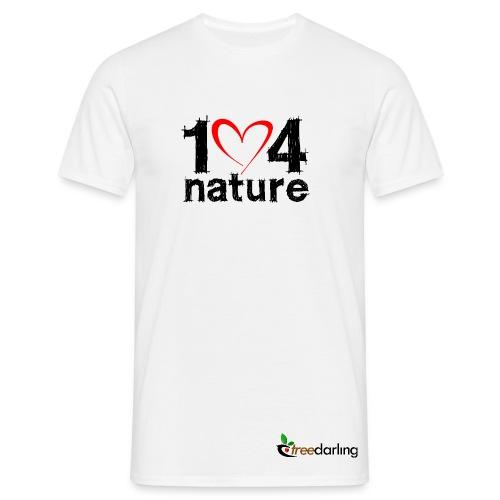 One heart for nature - Shirt! male - Männer T-Shirt