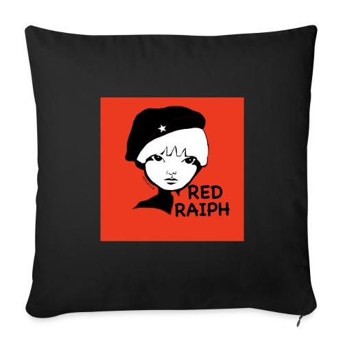 Red Cushin hing - Sofa pillow cover 44 x 44 cm