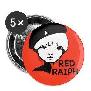 Red Raiph Badj - Buttons small 25 mm